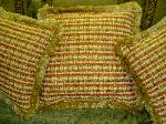 Custom made Pillows in SFS Pattern Bogart Upholstery Fabric