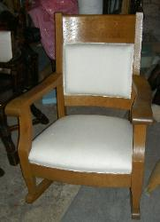 Antique Oak Rocker Restoration Donation Project - awaiting fabric choice
