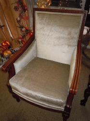 Classic Traditional Chair Reupholstered and Ready for Pick Up