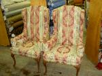 Reupholstered matching antique chairs