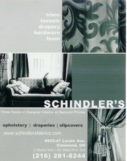 Schindler's Fabric shop, Discount Designer Fabrics, contact add